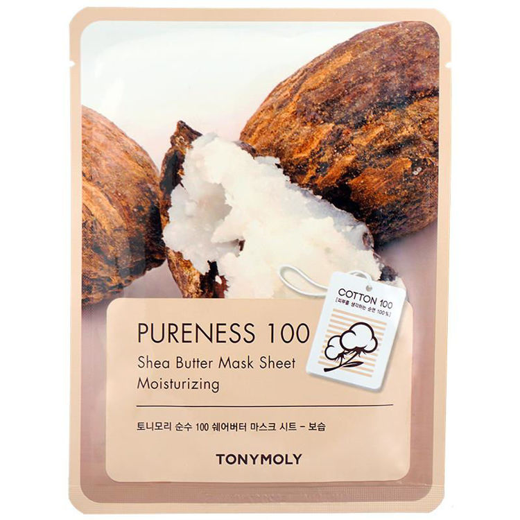 Picture of TONYMOLY Pureness 100  Mask Sheet Shea Butter 21g