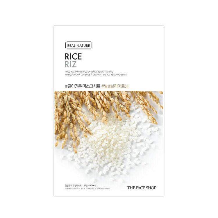 Изображение на ШИЙТ МАСКА С ОРИЗ  THE FACE SHOP Real Nature Face Mask Rice 20г