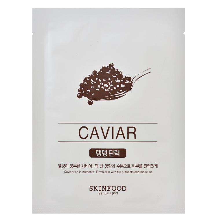 Изображение на ШИЙТ МАСКА С ХАЙВЕР SKINFOOD  Beauty in a Food Mask Sheet Caviar 20мл