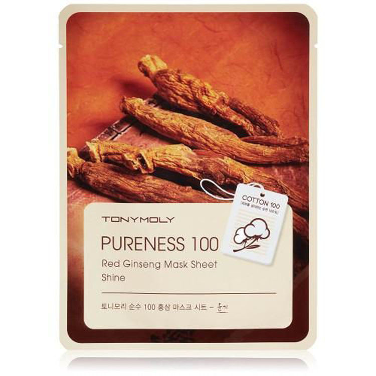 Picture of TONYMOLY Pureness 100  Mask Sheet  Red Ginseng 21ml