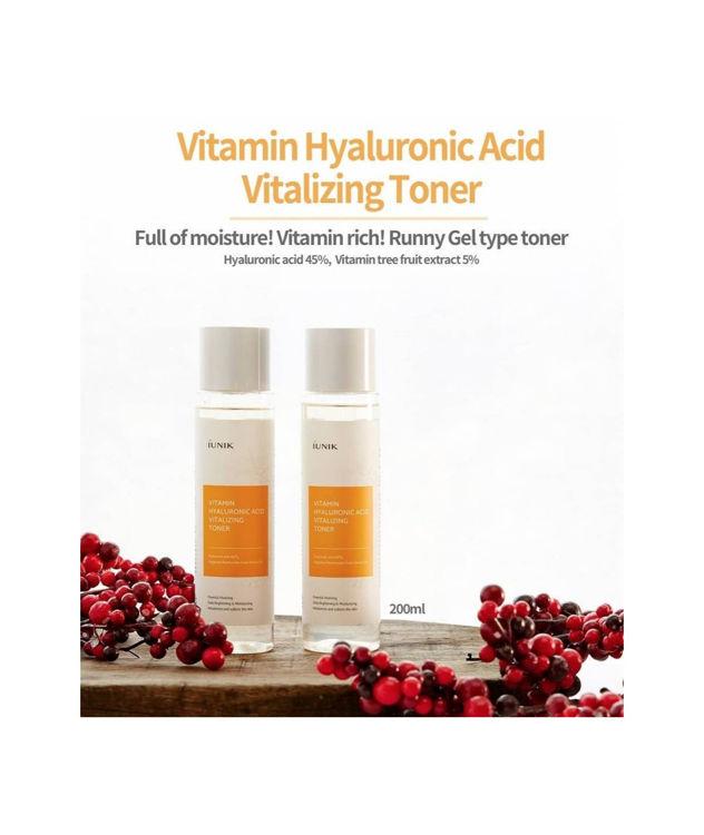 Изображение на ТОНЕР ЗА ЛИЦЕ С ХИАЛУРОНОВА КИСЕЛИНА И ВИТАМИНИ Iunik Vitamin Hyaluronic Acid Vitalizing Toner 200мл